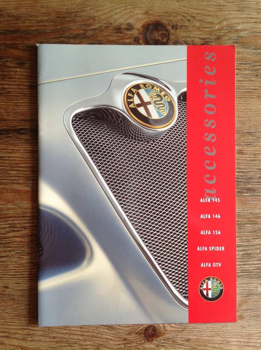 Alfa Romeo Alfa Romeo Classic Car Memorabilia Alfa Romeo Brochures - Alfa romeo spider accessories