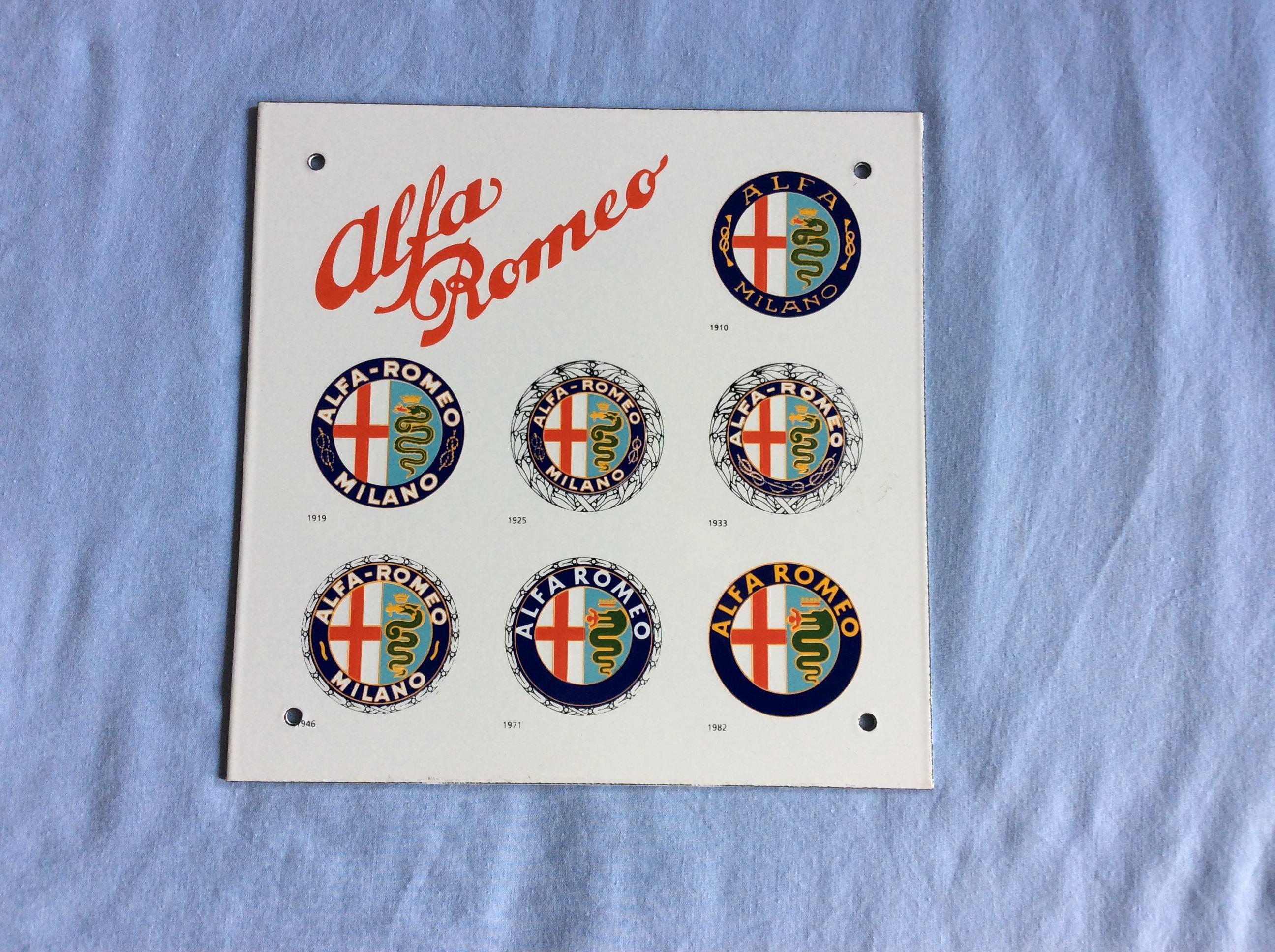 Alfa Romeo Alfa Romeo Classic Car Memorabilia Alfa Romeo Signs