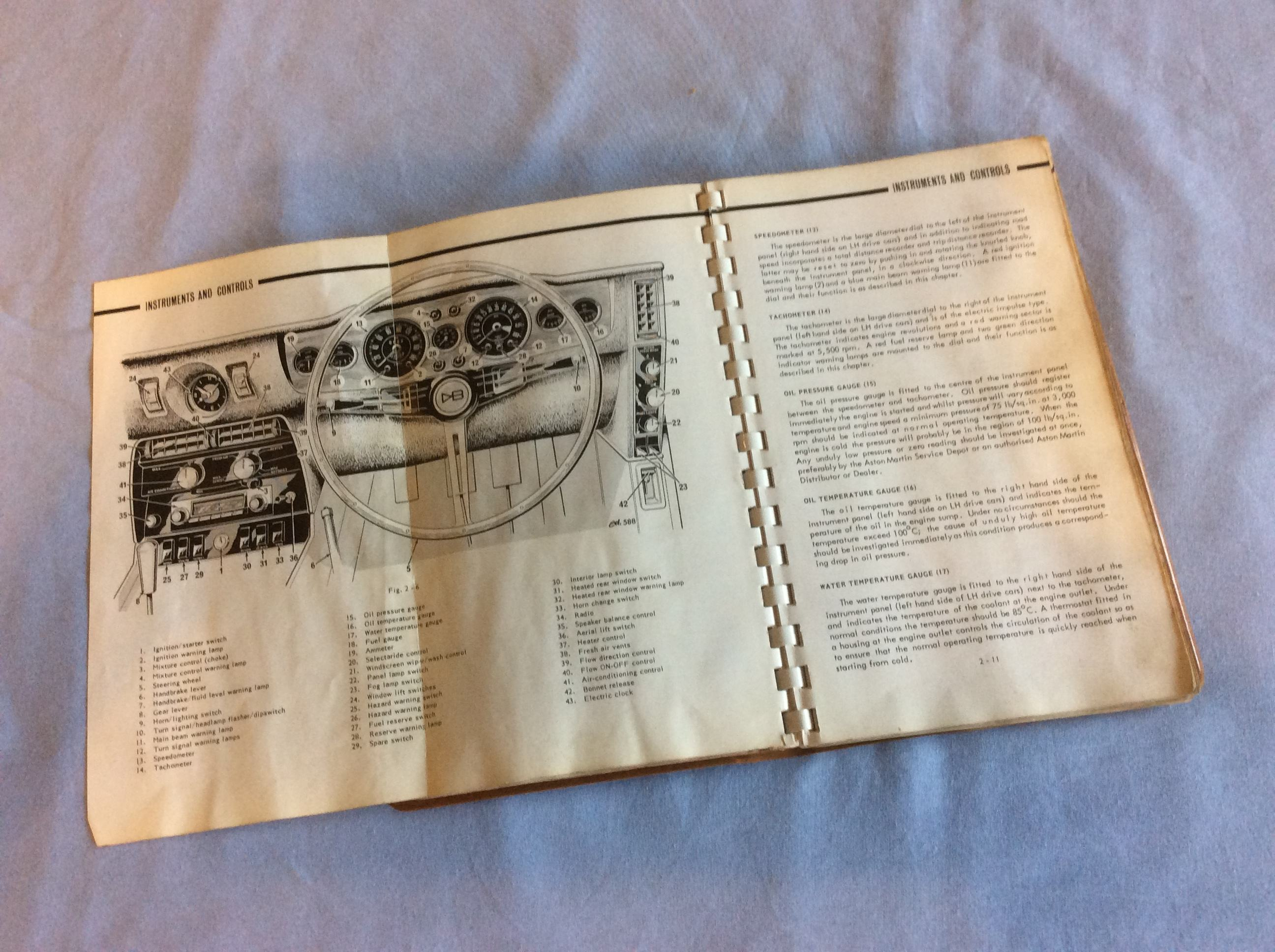 Aston Martin Classic Memorabilia Books Electrical Wiring Diagram Dbs Instruction Book