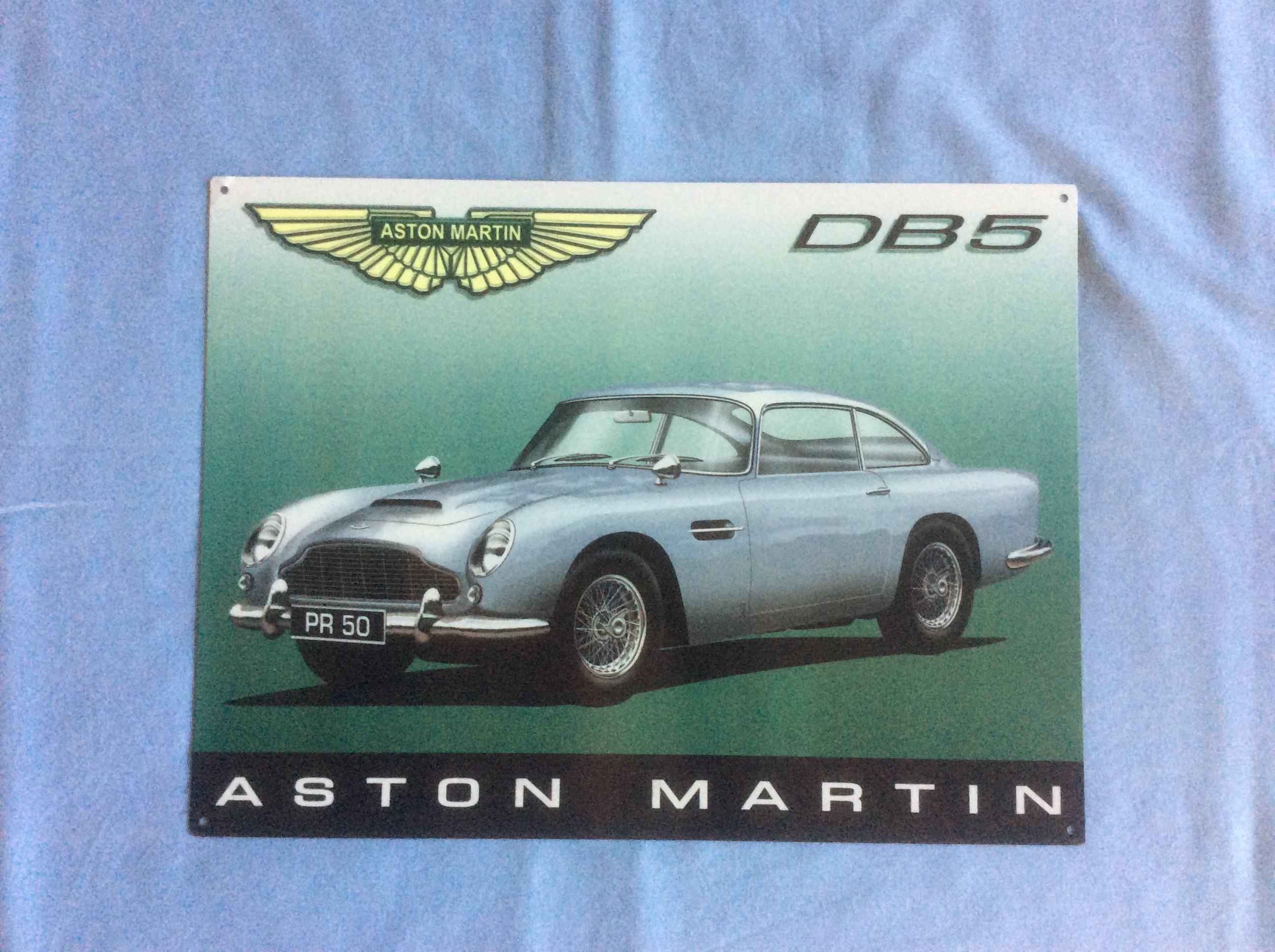 Aston Martin Classic Aston Martin Memorabilia Aston Martin Signs - Aston martin db5
